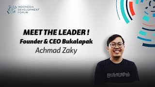 IDF 2019 Meet The Leader Achmad Zaky