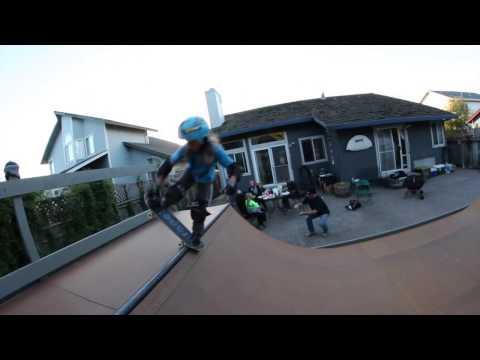 Minna Stess 6 and 7 year old skateboarder