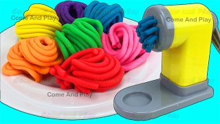 Learn Colors with Play Doh Pasta Spaghetti Making Machine Toy Appliance and Surprise Toys - Video Youtube