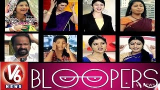 Funny Mistakes By V6 News Anchors - V6 Bloopers 2014