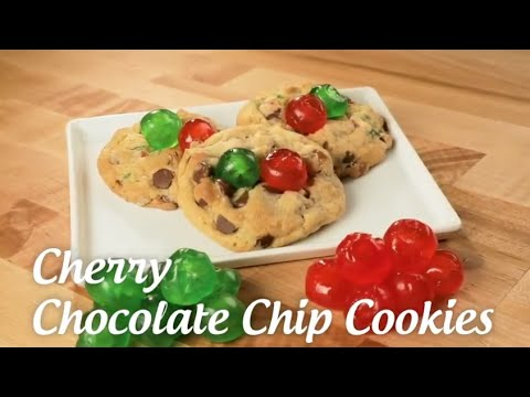 Candied Cherries Chocolate Chip Cookies