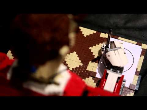 The Cold, Mechanical Terror Of A LEGO Robot That Can Draw Things