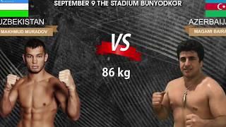 Asian Fight 2017 MMA , Makhmud Muradov's fight . Бой Махмуда Мурадова в Ташкенте,