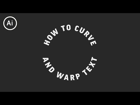 How to Curve & Warp Text   Illustrator Tutorial