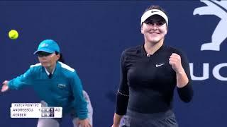 Tennis Channel Live: Bianca Andreescu Battles Past Angelique Kerber 2019 Miami Open