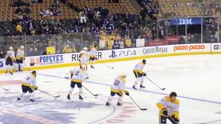 Toronto Maple Leafs - pregame warmup vs Nashville Predators - February 7, 2018