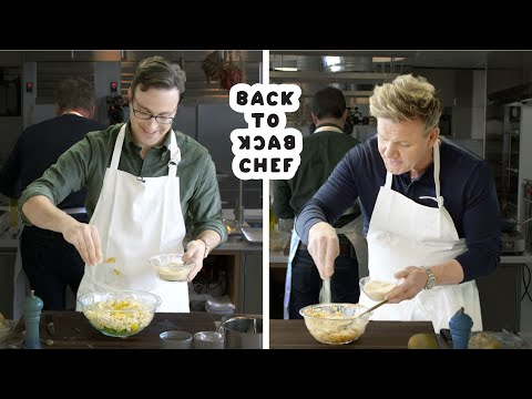 Video Gordon Ramsay Challenges Amateur Cook to Keep Up with Him | Bon Appetit