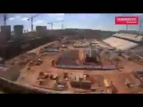 Evolução da Arena Corinthians em 50 segundos