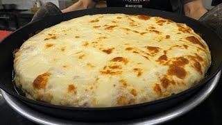 거대한 초대형 치즈 이불 피자 / giant cheese pizza - korean street food
