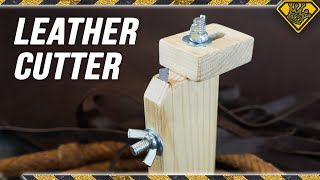 Leather Strip Slicer made from Wood and Razors - Video Youtube