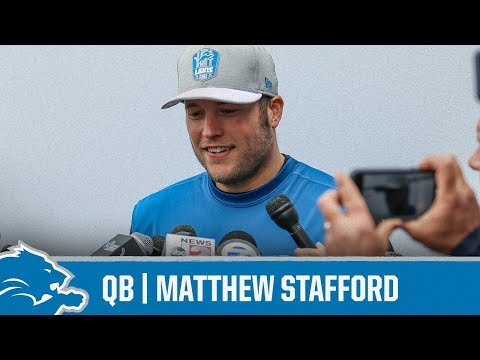 Matthew Stafford on getting back to football | Detroit Lions Sound Bites