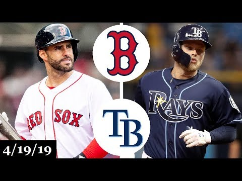 Boston Red Sox vs Tampa Bay Rays Highlights | April 19, 2019