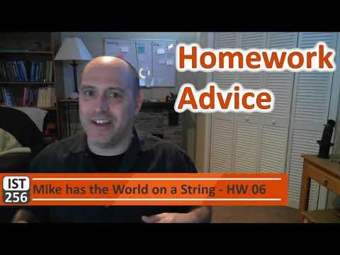 Homework Advice
