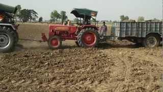 Arjun 605 di pulling mahindra 265 di in Gill & Pannu Farm by Bavjot Gill