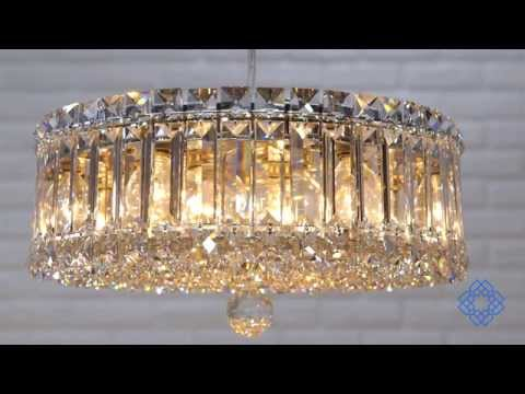 Video for Plaza Stainless Steel Nine-Light Clear Spectra Crystal, 14.5W x 6.5H x 14.5D