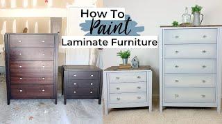 Painting Laminate Furniture | Furniture Makeover | Ashleigh Lauren