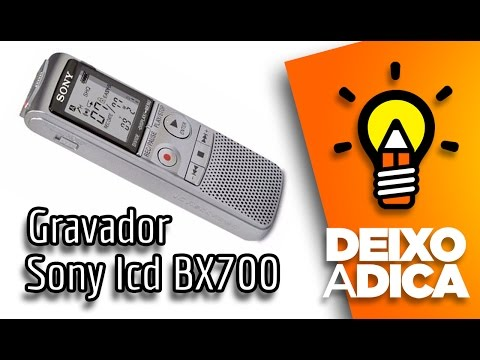 Como Transferir O Audio Do Gravador Sony ICD BX700 Para O Computador Mp3