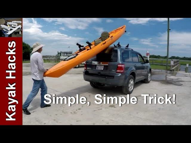 Easy one person method to load kayak on SUV without scratching
