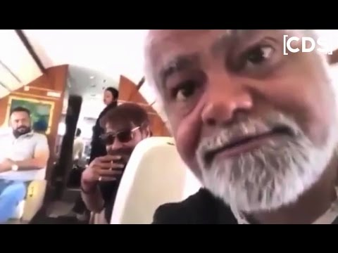 Video: Ajay Devgan In His Private Jet With Sanjay Mishra,Rohit Shetty For Golmaal Again Shooting !!