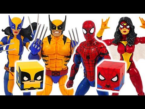 Spider-Man and X-Men Wolverine! Defeat dinosaurs! #DuDuPopTOY