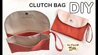 DIY CLUTCH BAG // วิธีทำกระเป๋าถือหลายช่องแบบง่ายๆ