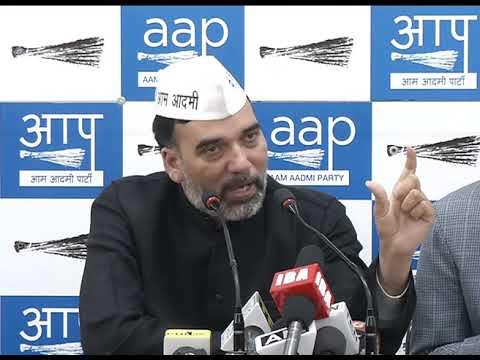 Aap Delhi Convenor Gopal Rai Briefs Media on Sealing Issue