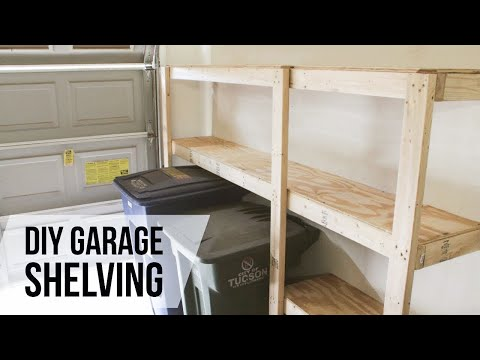 DIY Garage Shelves // How-to