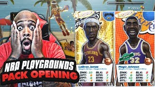 I PULLED 3 LEGENDS! LEBRON JAMES & MAGIC JOHNSON ONLINE NBA Playgrounds Pack Opening Gameplay Ep. 11