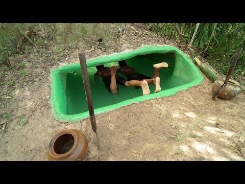 徒手挖出地下泳池