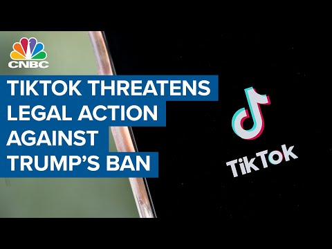 TikTok threatens legal action against President Donald Trump's executive order