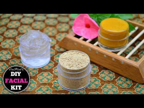 Homemade Facial Kit (Dry & Oily Skin) For INSTANT Glowing Skin !!!