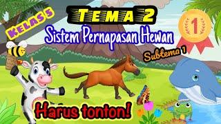 Tematik Kelas 5 Tema 2 Subtema 1-Sistem Pernapasan Hewan