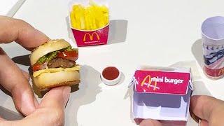 Mini Food McDonalds Burger & Fries With Coke (Cooking Sounds) (ASMR) (KITCHEN SET)