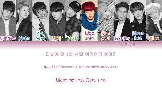 UP10TION (업텐션) - Catch Me! (여기여기 붙어라) (Color Coded Han|Rom|Eng Lyrics) | by Yankat