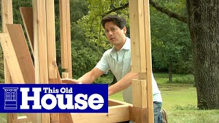 How To Build An Arbor Bench | This Old House