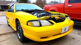 Copart 94 Ford Mustang GT - Rebuild + Drive + Water in oil? Find out!!
