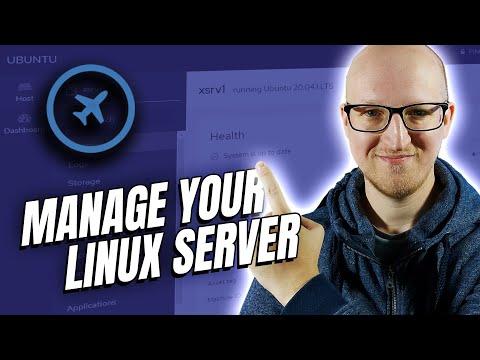 Linux Server Web GUI - management with cockpit