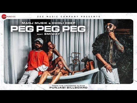 Download Peg Peg Peg | Manj Musik & Dholi Deep Ft. Emiway | Punjabi Billboard HD Video