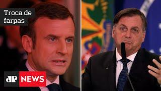 Macron mente e fala 'besteira' sobre soja, diz Bolsonaro