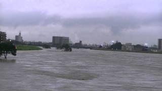 庄内川名古屋市台風15号の影響で増水!
