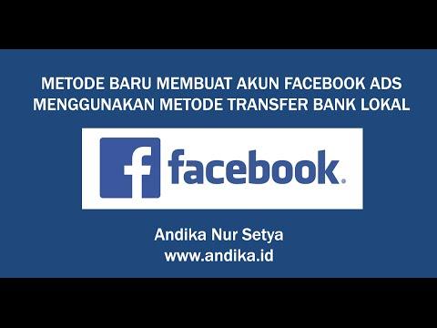 Video Cara Membuat Akun Facebook Ads Pembayaran Bank Lokal | Andika Nur Setya