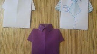 Смотреть онлайн Открытка в виде рубашки для мужчин своими руками