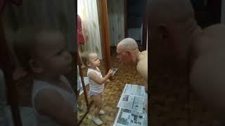 Дочка ругает Папу!