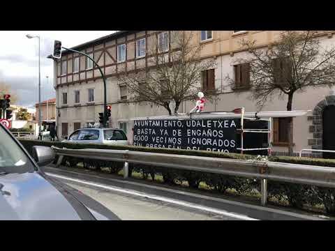 Protesta contra la situación de la Presa de Santa Engracia Video 1
