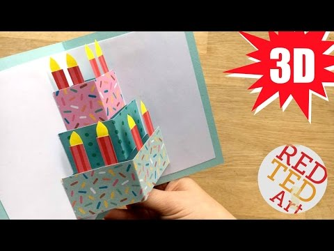 Easy Cake Card - Birthday Card Design - Weddings - Celebrations - DIY Card Making Ideas