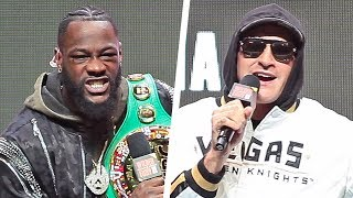 HEATED!! - Deontay Wilder vs. Tyson Fury II • FULL FINAL PRESS CONFERENCE • Las Vegas MGM