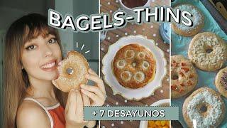 BAGELS (o Thins) REALFOOD + 7 Desayunos SALADOS Y DULCES Con Bagels!