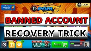 8 Ball pool Banned Account Recovery Trick