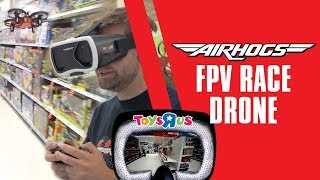Johnny FPV Races Air Hogs Drone In Toys R Us!