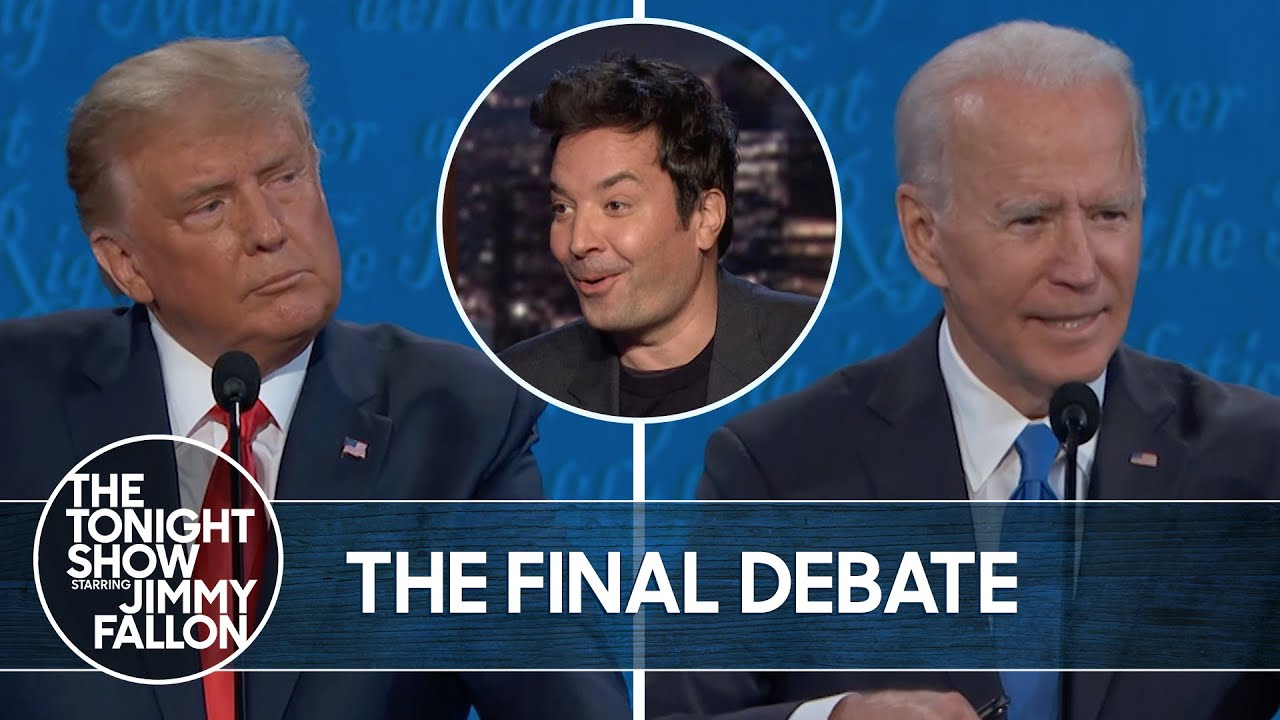 Trump and Biden Face Off In Final Debate | The Tonight Show thumbnail